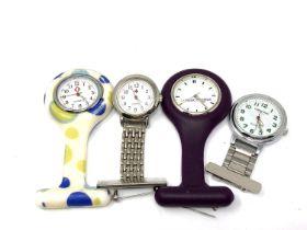Four nurse's fob watches