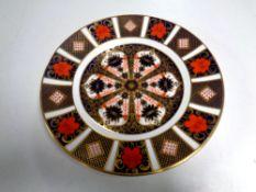 A Royal Crown Derby 1128 Imari plate, diameter 21.