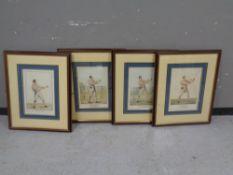 A set of four framed boxing prints