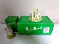 Two boxed John Beswick figures,