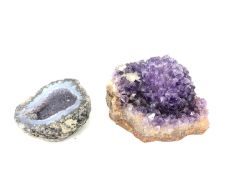 Two pieces of rock crystal