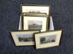 Eight colour etchings, scenes of Chester,