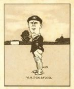 HILL, Caricatures of Famous Cricketers, complete, large, VG to EX, 50