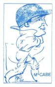 CRICKET, anon caricatures, blue, from the originals by Durling & MAC, 46 x 70mm, p/b, EX to MT,