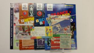 FOOTBALL, England mainly home programmes, 1952 onwards. also tickets & teamsheets, EX to MT, 100*