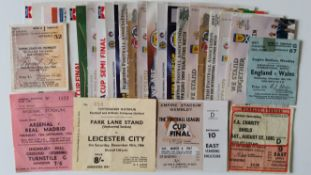 FOOTBALL, tickets, 1954 onwards, inc. many cup finals, England & Scotland etc., G to EX, 44*