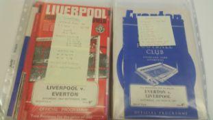 FOOTBALL, Everton (45), & Liverpool programmes, 1960s-1970s, inc. FA Cup Finals, 1960s (2), 1974, (