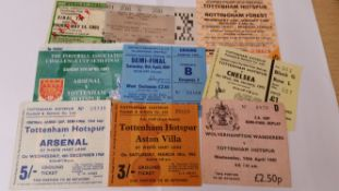 FOOTBALL, Tottenham Hotspur cup tickets, 1962 onwards, 1981 FAC Replay, semi-final replay etc., G to