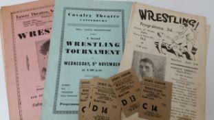 WRESTLING, selection, inc. 1944/5 programmes (6), Brighton (2), Canterbury (1), London (3); Brighton