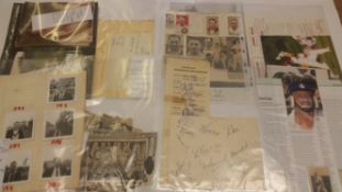 CRICKET, Northamptonshire signed selection, inc. teamsheets, newspaper photos, magazine pages,