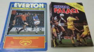 FOOTBALL, programmes, 1960s-1980s, inc. Everton (46), 1978/9, league (20/21, missing Derby) & LC (