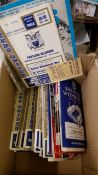 FOOTBALL, Leeds United home (70) & away programmes, mainly 1960s, inc. v Barcelona 1975 (with