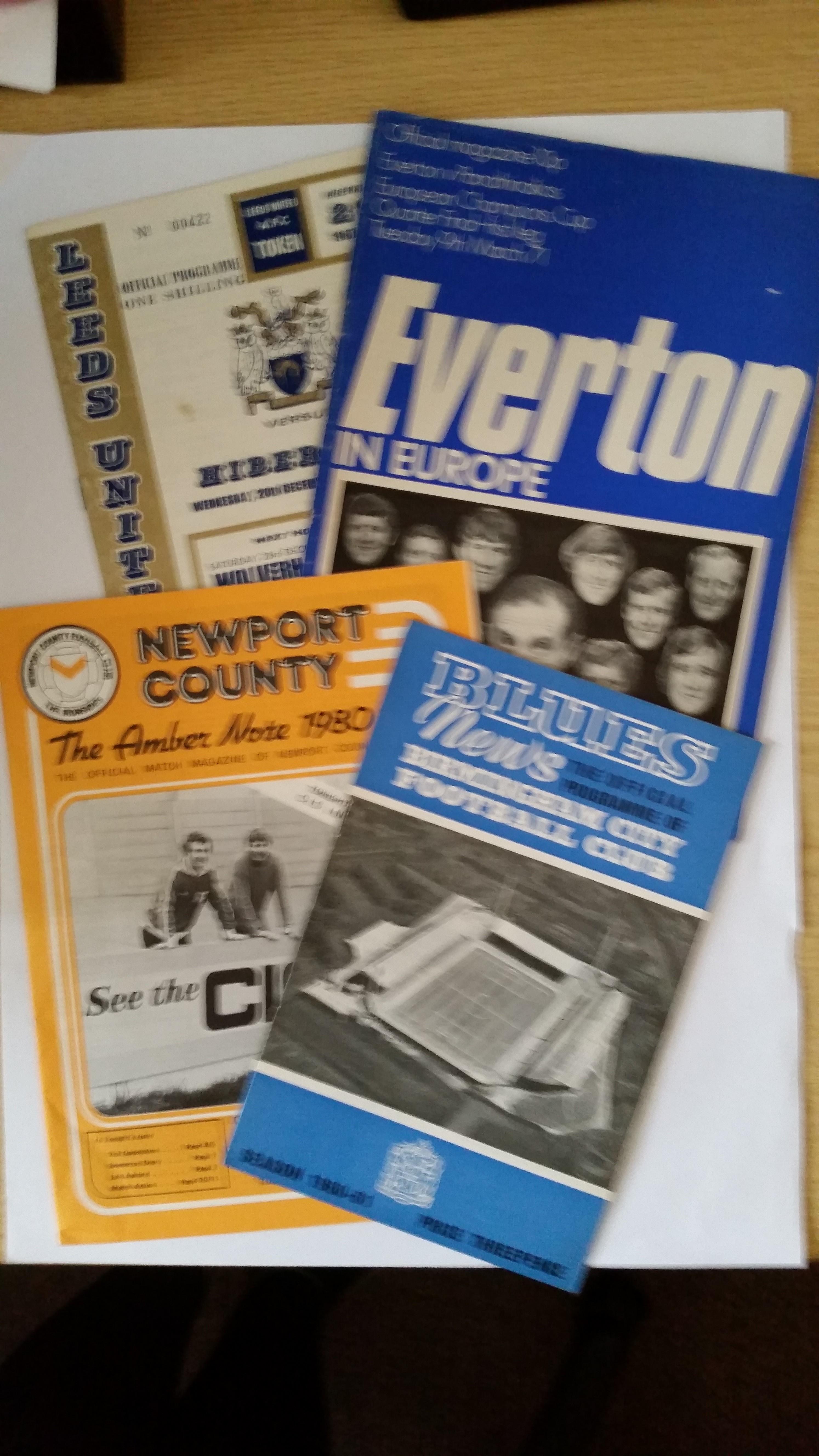 FOOTBALL, programmes for European matches, 1960s=80s, inc. Everton v Panathinaikos 1970/1 EC,