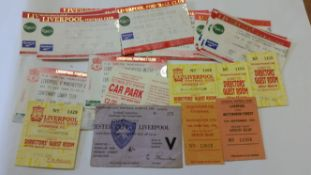 FOOTBALL, Liverpool home tickets, inc. at Leicester City, 1965 FAC; 1970s (2) & 1990s (30), G to VG,