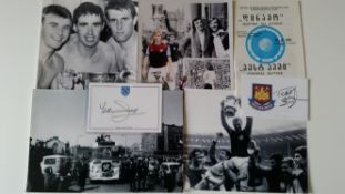 FOOTBALL, West Ham United selection, inc. prints, 1964 FA Cup Final (6), Bobby Moore; signed Alan