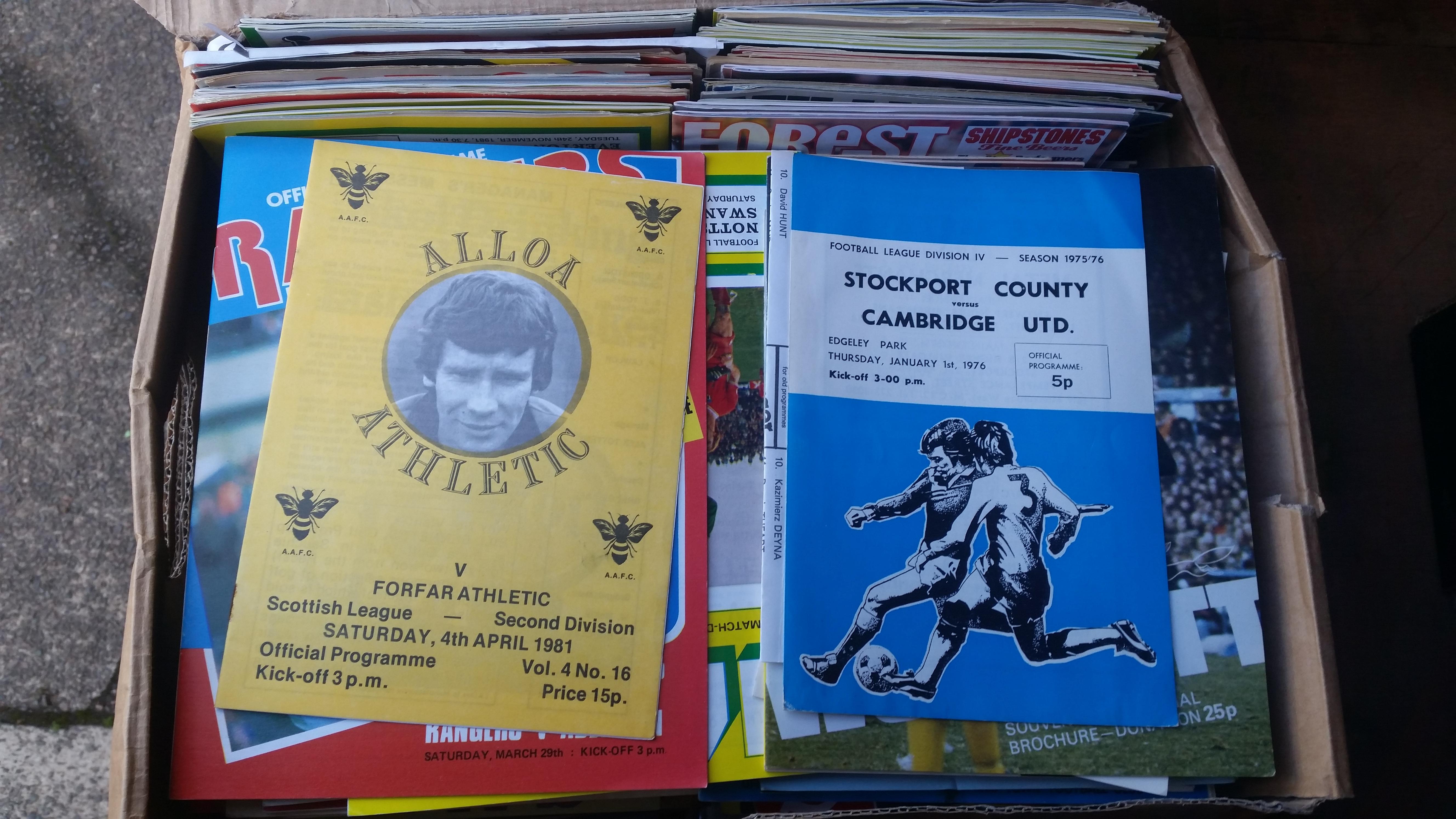 FOOTBALL, programmes 1970s-1980s, inc. big match, ex-league; Luton, Millwall, Notts County,