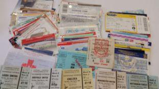 FOOTBALL, tickets, 1970s onwards, inc. Tottenham, v Leeds, Chelsea (both) 1974/5, Manchester Utd