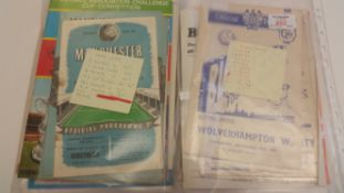 FOOTBALL, Blackpool & Manchester City, programmes, 1950s-1970s, inc. v Fulham, Crystal Palace,