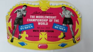 BOXING, programme & ticket, Randolph Turpin v Charles Humez, June 1953 (Coronation issue),
