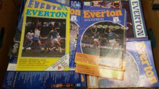 FOOTBALL, programmes, 1970s onwards (some earlier), inc. Everton (148), 1960s (47); Bradford City,