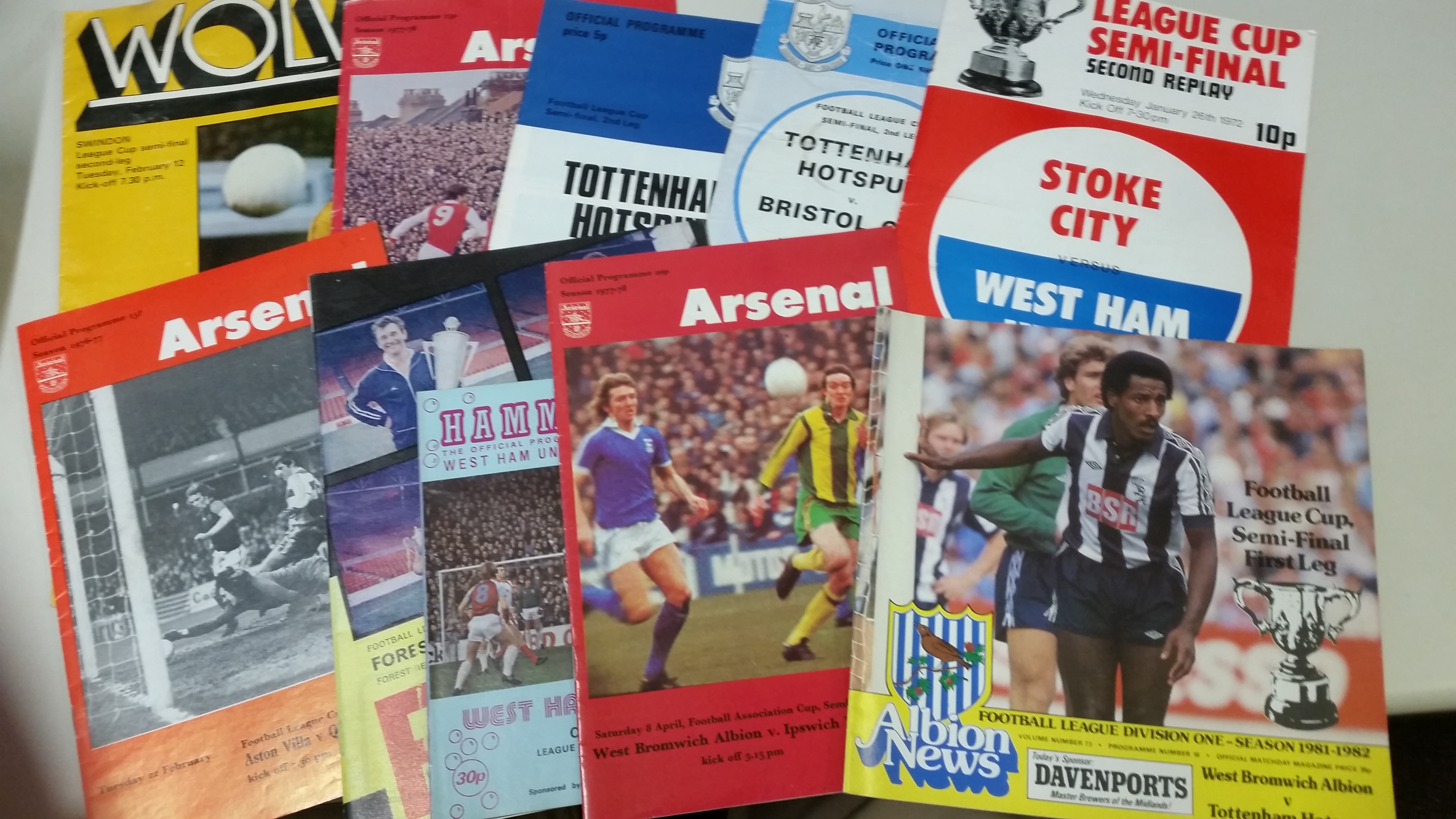 FOOTBALL, programmes for big matches, inc. League Cup semi-finals (26), Swindon v Wolves 1979/80, - Image 4 of 5