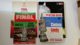 FOOTBALL, Chelsea home programmes for cup matches, 1970 onwards, inc. many semi finals and finals; v