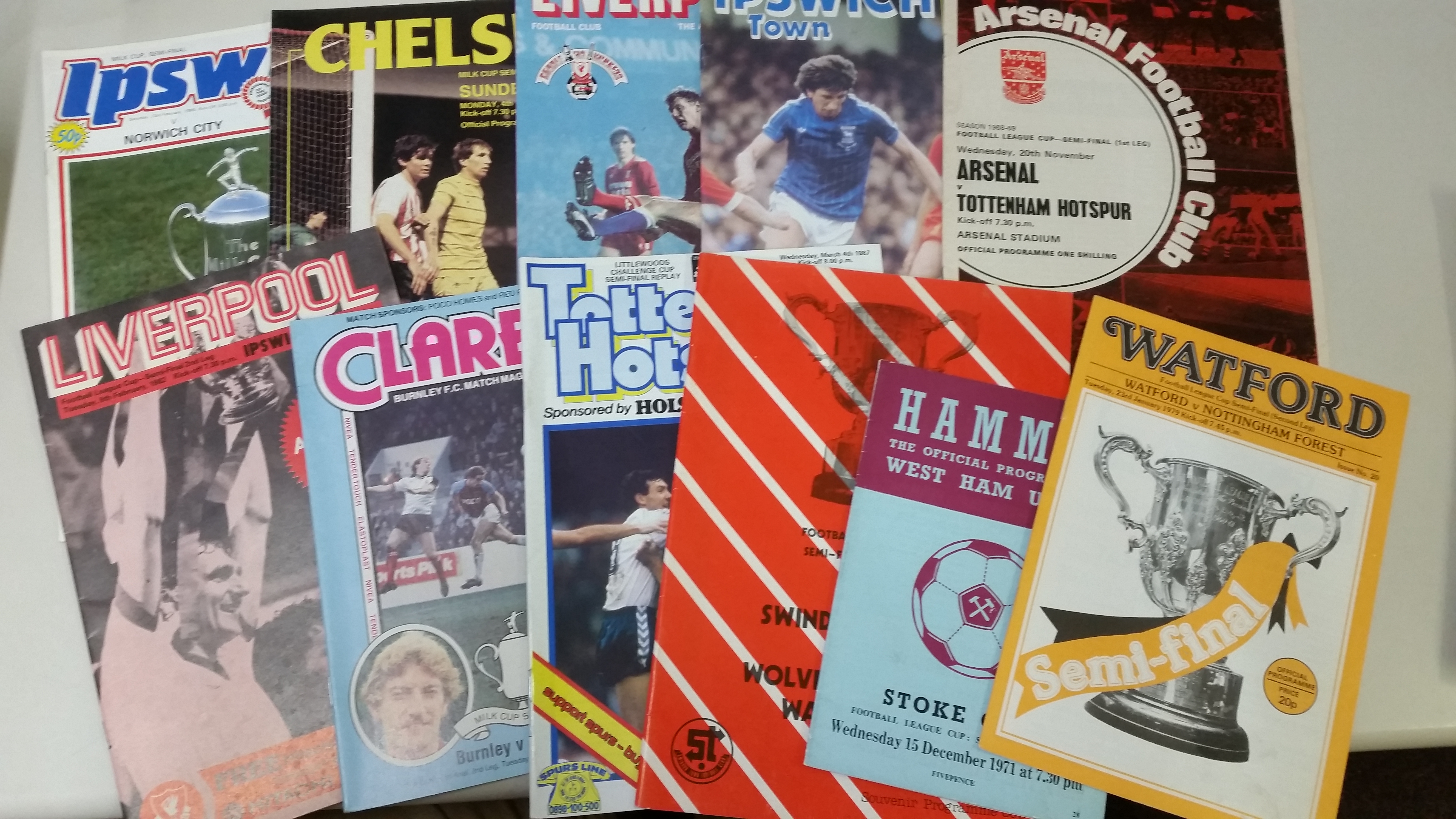 FOOTBALL, programmes for big matches, inc. League Cup semi-finals (26), Swindon v Wolves 1979/80, - Image 3 of 5