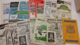 FOOTBALL, Newcastle United home (8) & away programmes, 1950/1-1954/5, inc. v Rotherham 1952/3 FAC,