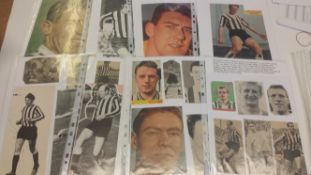 FOOTBALL, signed magazine photos, Newcastle United, 1950s-1960s, inc. McGrath, Gibb, Allchurch,