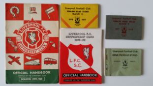FOOTBALL, Liverpool selection, inc. Supporters Handbooks (2), 1959/60 & 1965/6; season tickets (