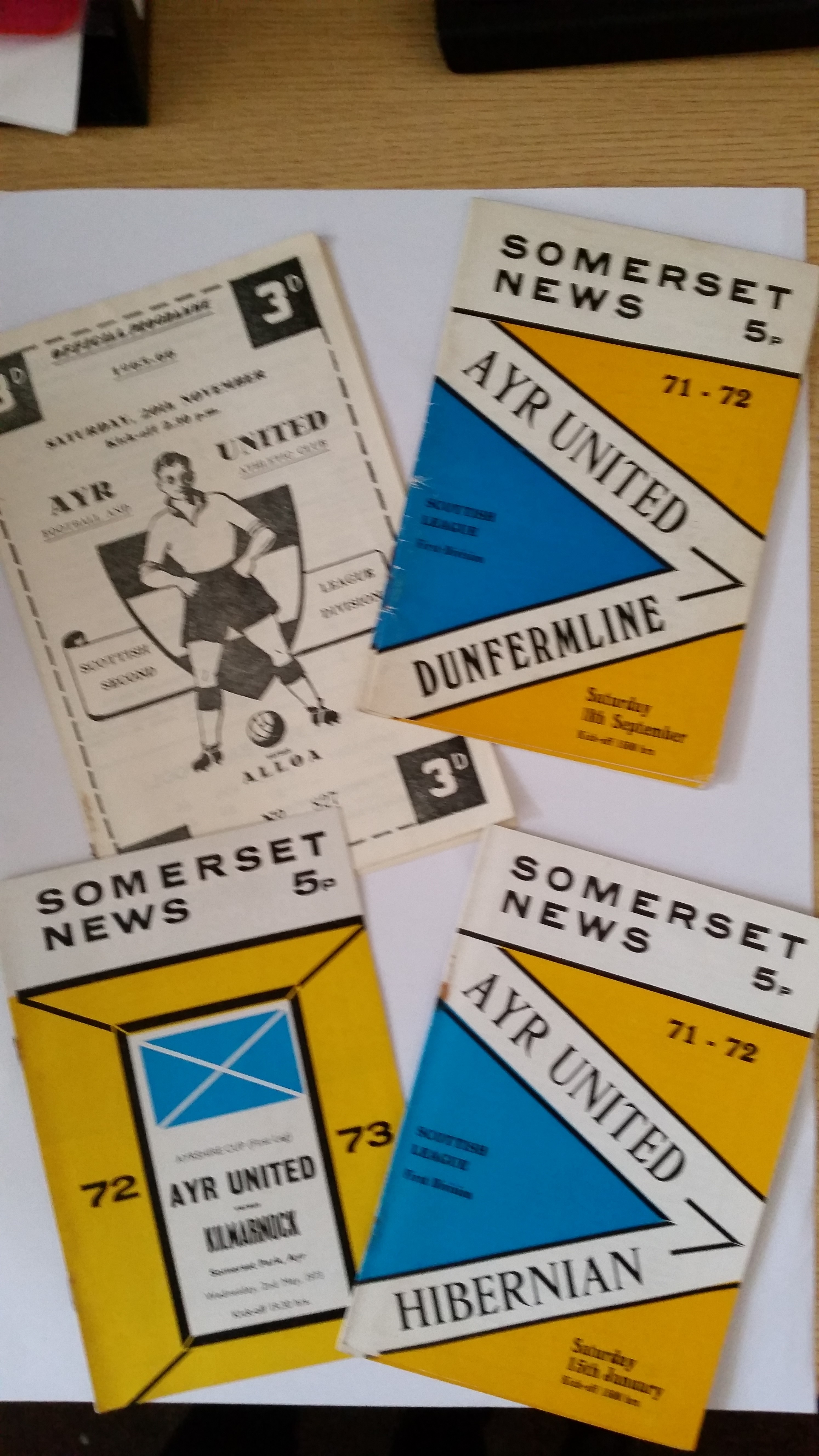 FOOTBALL, Ayr United home programmes, 1965-1981, inc. v Alloa, Cowdenbeath (both 1965/6),
