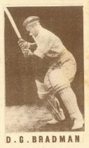 COLES STORES, Cricketers in Australia (1946/7), light brown fronts, Australian trade issue, a.m.