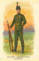 I.T.C. OF CANADA, Regimental Uniforms of Canada, complete, large silks, VG, 55