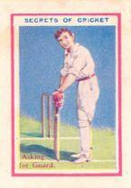 CRICKET, miniature, Thomson Secrets of Cricket (65); de Beukelaer All Sports (18 cricketers), G to