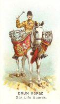 WILLS, Drum Horses, complete, United Service, generally EX, 32
