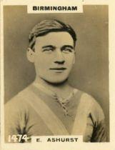 PHILLIPS, Footballers (Pinnace), Birmingham players, miniature RP, P (1) to EX, 18