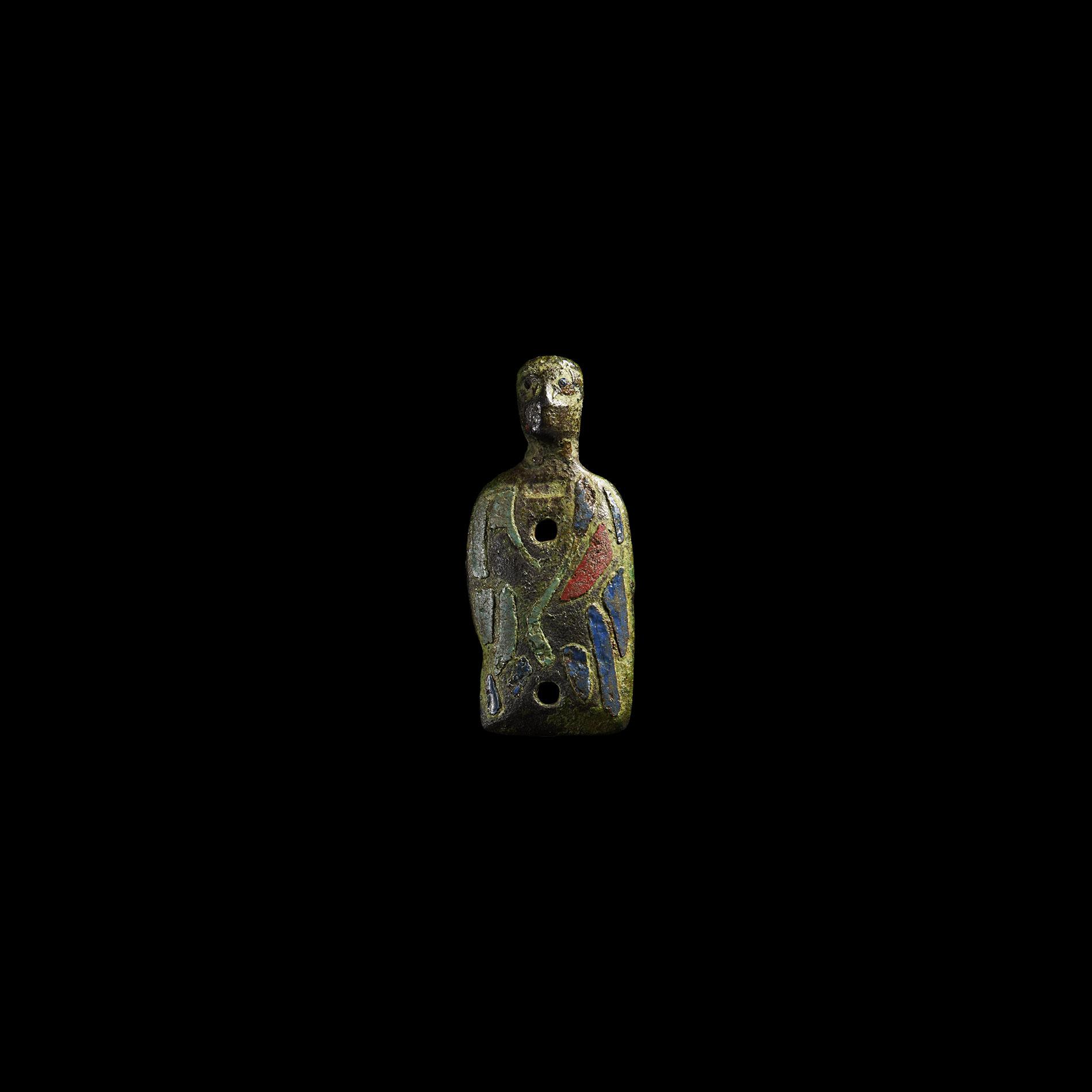 Medieval Limoges Enamelled Figure of a Saint