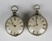An early 19th century base metal cased keywind open-faced gentleman's pocket watch, the gilt fusee