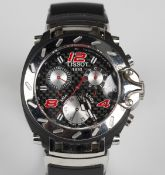 A Tissot Nascar special edition gentleman's chronograph wristwatch, the signed dial detailed 'Tissot