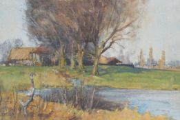 William Tatton Winter - 'An Autumn Day', early 20th century watercolour, signed with monogram recto,
