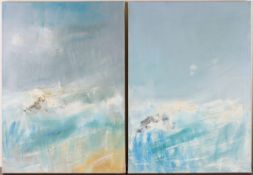 Christopher D. Hankey - 'Shore' and 'High Tide 14', a pair of oils on canvas, both signed, titled