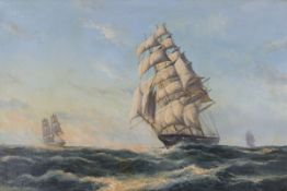 John Bentham Dinsdale - 'The Torrens' (Ship Portrait of the Clipper in Full Sail), late 20th century