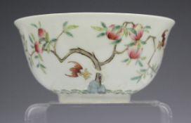 A Chinese famille rose porcelain circular bowl, mark of Tongzhi but probably 20th century, the