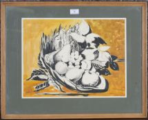 Alexander Hardie Williamson - 'Still Life', ink and watercolour, signed recto, titled verso, 33.