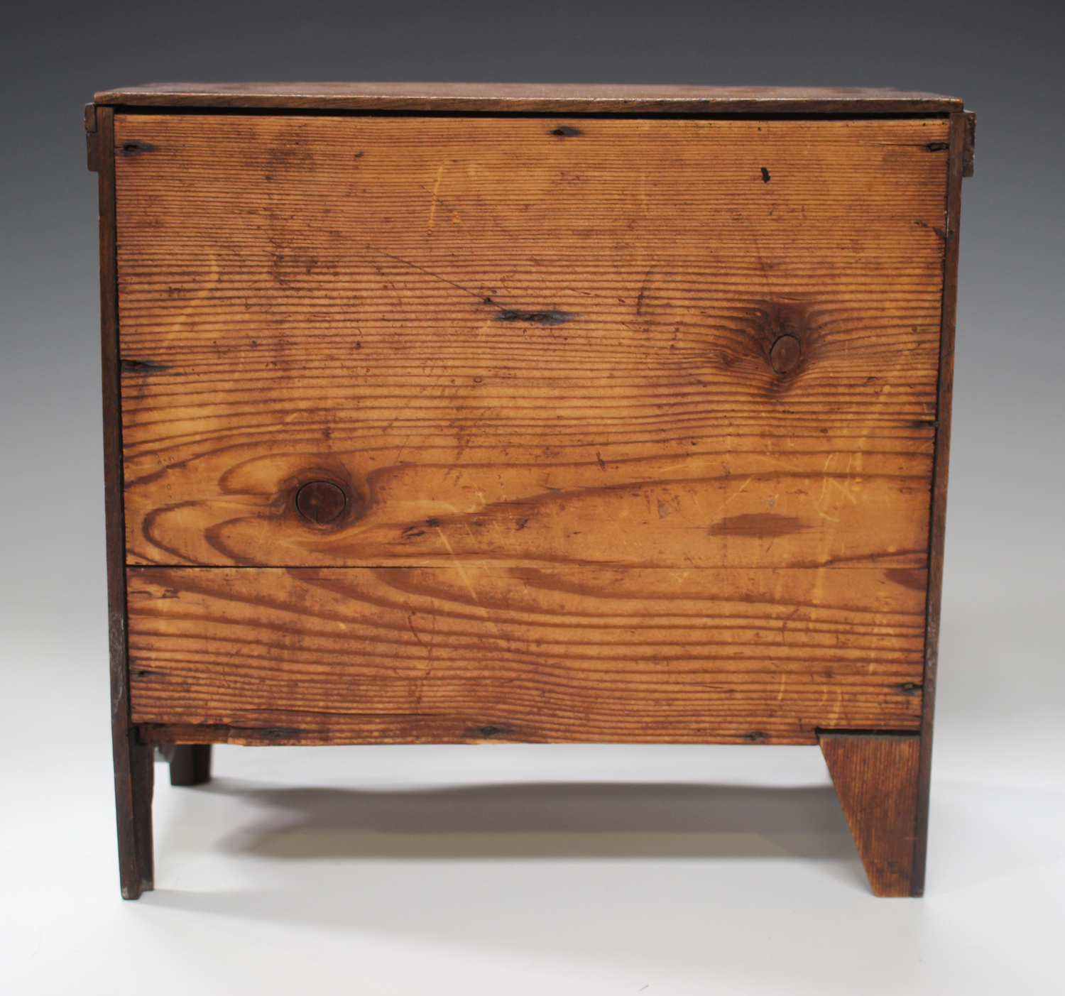 An early Victorian mahogany table-top apprentice chest of drawers, height 26cm, width 27cm.Buyer's - Image 6 of 8