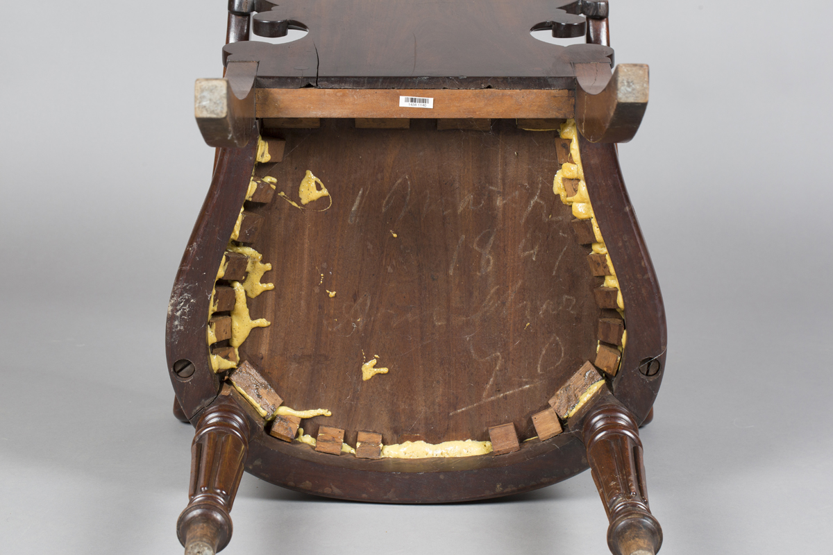A William IV mahogany elbow hall chair, in the manner of Gillows of Lancaster, the shield back - Image 3 of 10