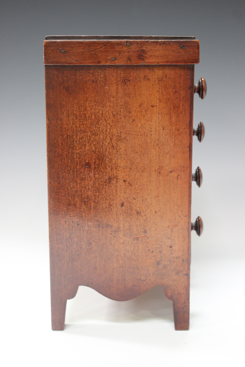 An early Victorian mahogany table-top apprentice chest of drawers, height 26cm, width 27cm.Buyer's - Image 7 of 8