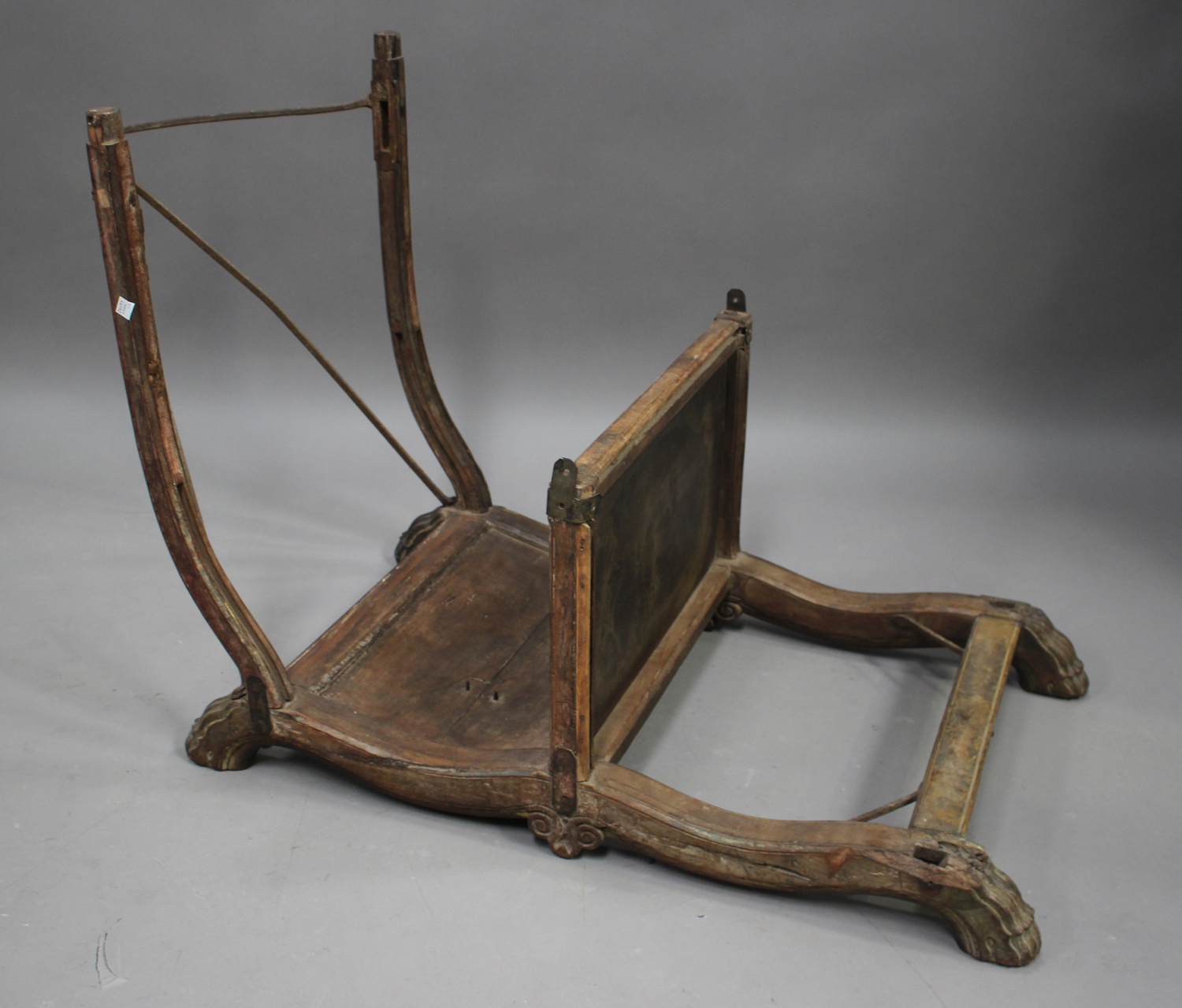 A late 19th/early 20th century Indian hardwood elephant howdah, height 70cm, length 110cm (some - Image 4 of 6
