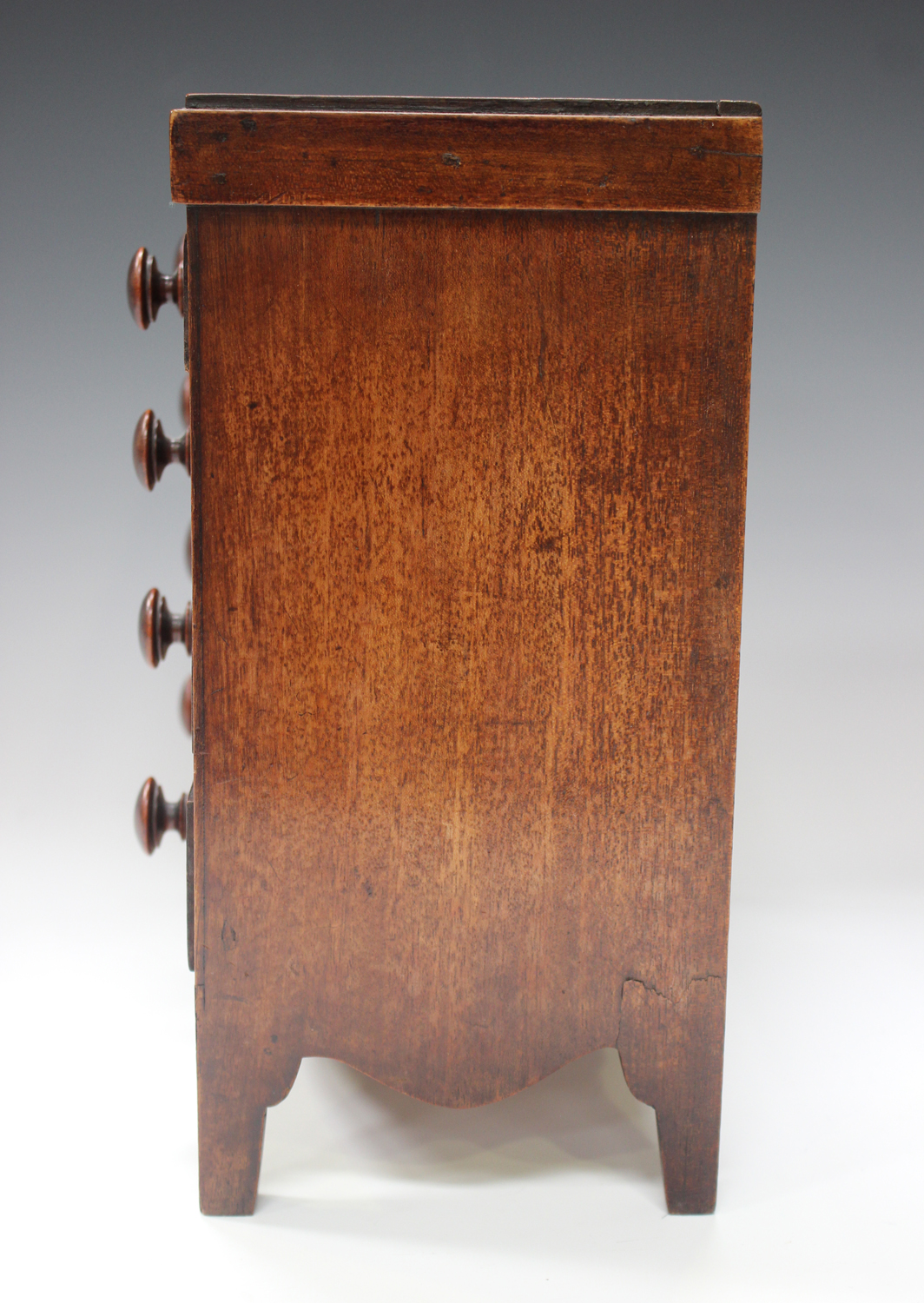 An early Victorian mahogany table-top apprentice chest of drawers, height 26cm, width 27cm.Buyer's - Image 5 of 8