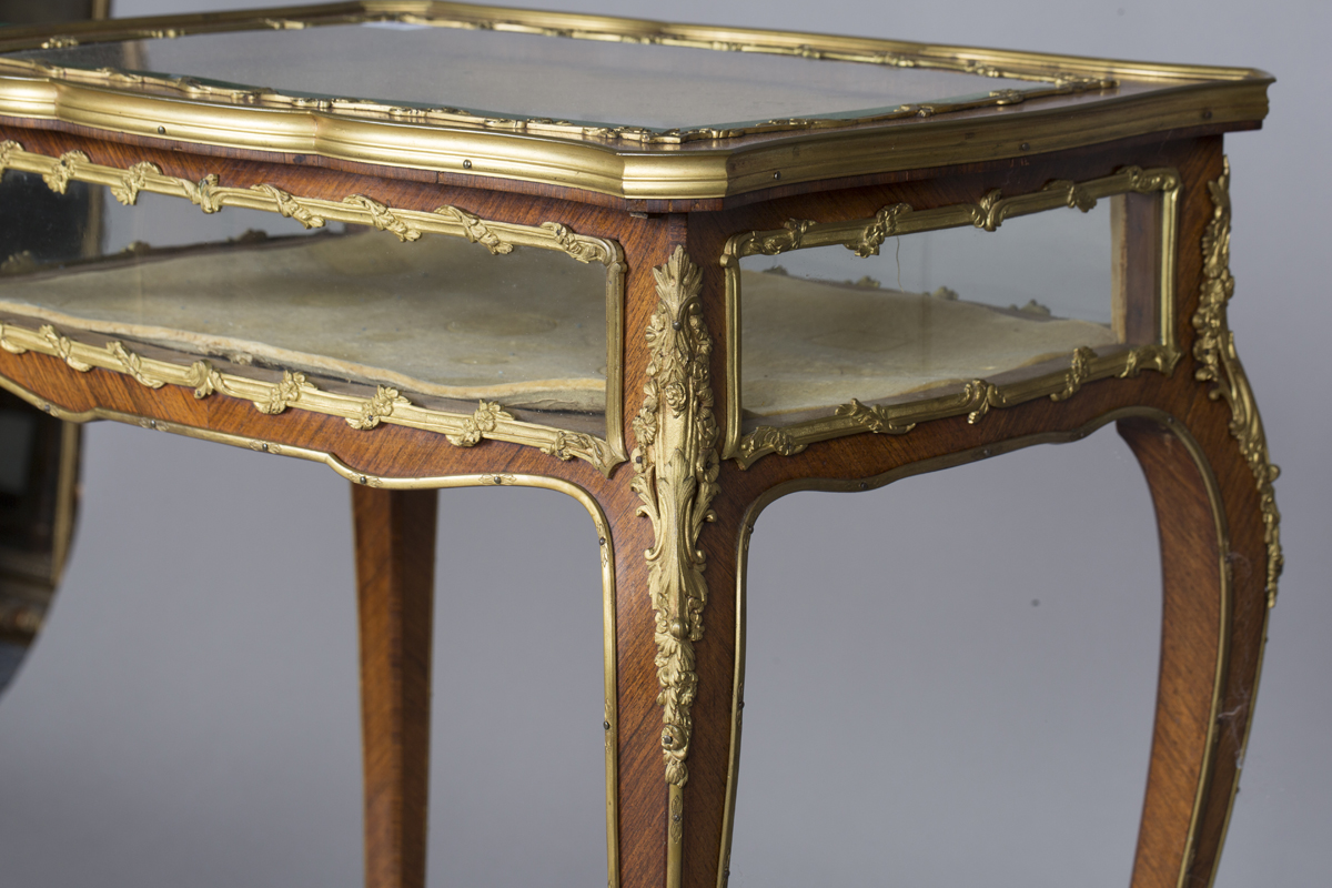 A good late 19th century Louis XV style kingwood bijouterie table with applied ormolu mounts, the - Image 2 of 9